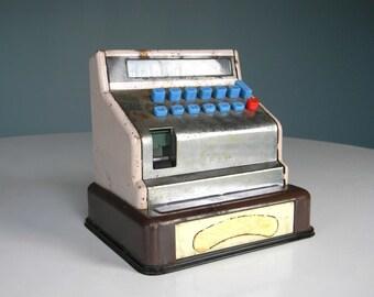 Vintage Tarheel Cash Register Toy Child Metal Play