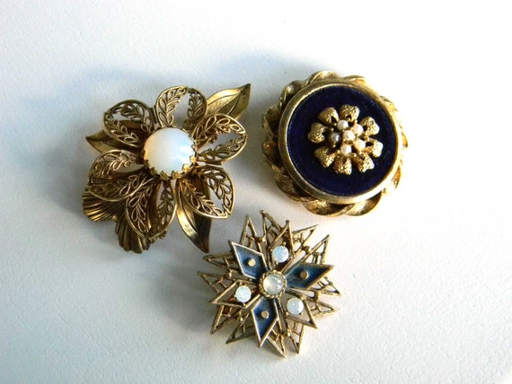 Vintage Brooch Pin Lot Set Collection