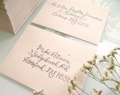 Address Your Wedding Envelopes with Custom Calligraphy