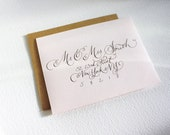 RESERVED LISTING for Karyn ONLY Address Your Wedding Envelopes with Custom Calligraphy