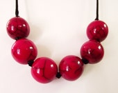 Adjustable Red Bead Necklace