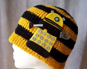 Dalek Hat Eternal Yellow Crochet