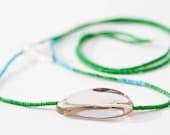 Neon Necklace - Crystal Quartz - Asymmetric - Minimalist - Modern - Schoharie Collection