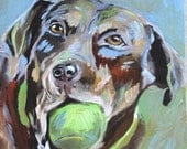 Custom Pet Portrait, Painting on Canvas 11x14 Personalized Dog or Cat