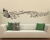 Music Butterfly Wall Decals Wall Stickers Vinyl Wall Decor Sticker Home Decor Housewares