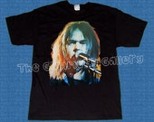 NEIL YOUNG drawing 1 deluxe art unique handpainted T-shirt