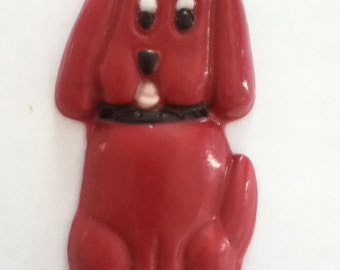 24 Large Red Dog (He's big) chocolate lollipop party favors