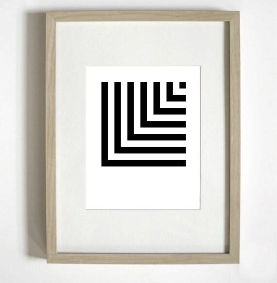 "Geometric ""L"" Typographic Poster"