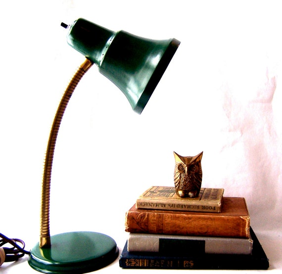 Vintage Desk Lamp -- Modern Industrial Gooseneck Lamp