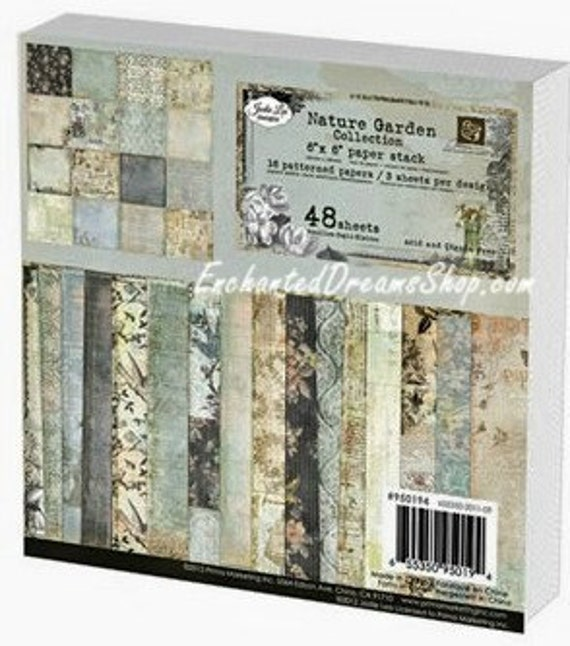 """Prima NATURE GARDEN 6 x 6 Paperpad Paper Stack - 6"""" x 6"""" - just released cha 2012"""