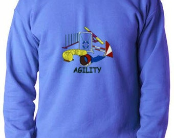 Custom Embroidered Dog Agility Sweatshirt S-3XL
