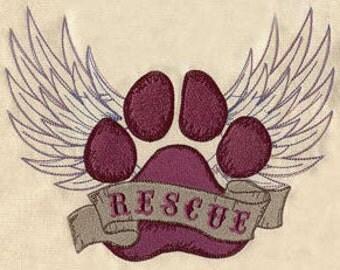 Custom Embroidered Animal / Pet Rescue Sweatshirt S-3XL Dog / Cat