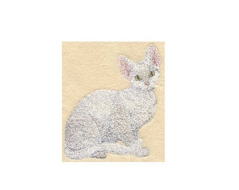 Custom Embroidered Devon Rex Cat Tshirt S-4XL