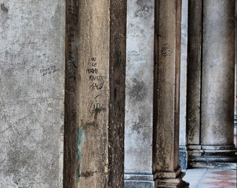 Columns in Light - St. Marc's Square, Venice, Italy -  Fine Art Photography Print - 8x12 - Architecture