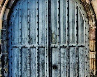 St. Andrews Medieval Wood and Iron Door - Fine Art Photography Print - 8x12 - Scotland Affordable Home Decor