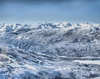 Whistler Snow Mountains- Fine Art Photography - 8x12  - Canadian Rockies Landscape