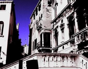 Venice Photo - Monochrome Architecture Picture - FIne Art Photography for Home Decor - 8x12