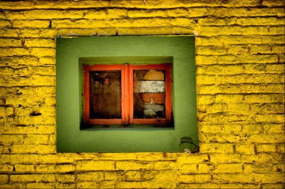 Yellow Window - Buenos Aires LA BOCA district - Fine Art Travel Photography Print - 8x12