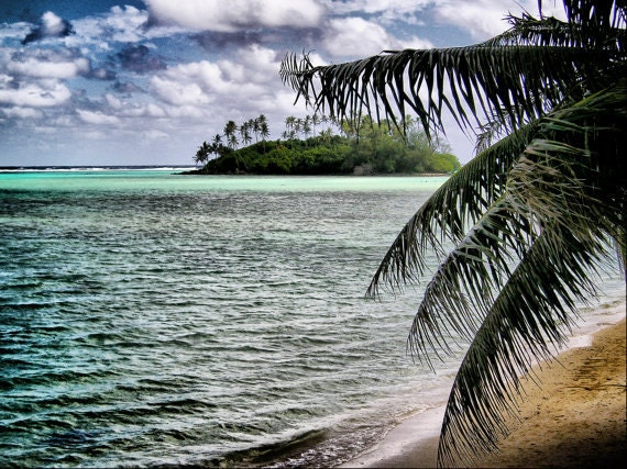 Deserted Tropical Island Paradise-  Fine Art Photography Print - 8x12 - Raratonga,Cook Islands