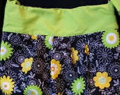 Front pleated lined shoulder bag