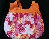 Butterfly print shoulder purse