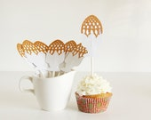 Gold Faberge Egg Cupcake Topper Set of 12