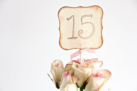 Wedding table number, wedding favor, wedding decor, Vintage wedding decor