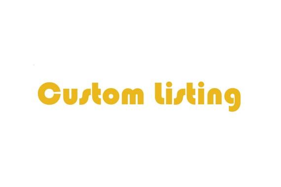 Custom listing for Angela Madatyan