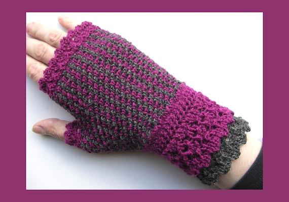 Double Take Mitts (PDF knitting pattern)