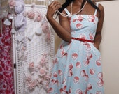 Cherry Print  New 1950s Dress by Love ur  Look