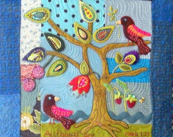Ask-Believe-Receive quilted wall art