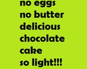 no eggs no butter chocolate cake very light and delicious perfect for children with allergy