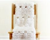 Newborn Baby Blanket in Pure White, Newborn Photo Prop, Mesh Mini Blanket (The Fisherman's Net) SALE