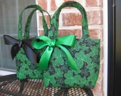 St. Patrick's Day Purse in Green and Black with Bow