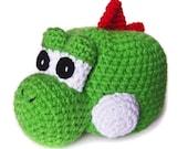 YOSHI HALLOWEEN COSTUME mario inspired hat girl boy geekery crochet green nintendo dinosaur video game costumes