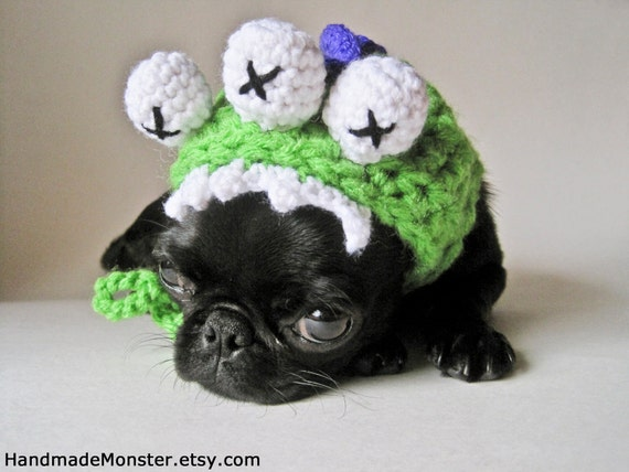 Free Crochet Patterns For Dog Halloween Costumes : DOG COSTUME HALLOWEEN costumes monster by HandmadeMonster ...