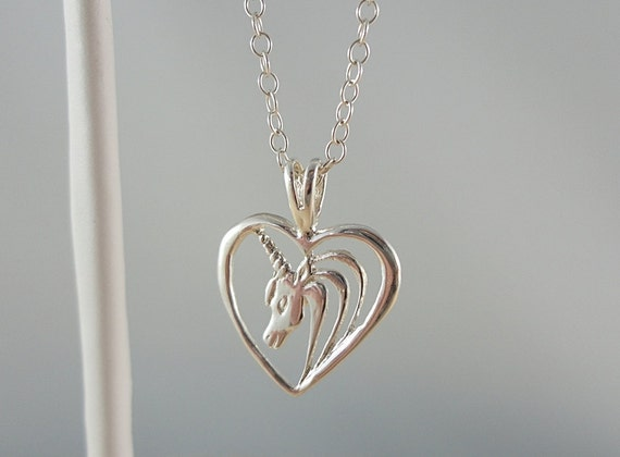 Sterling Silver Necklace  with a Lovely Unicorn Pendant