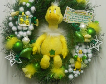 REDUCED Star Bellied SNEETCH Wreath and Plush with Collectible Hallmark Ornament