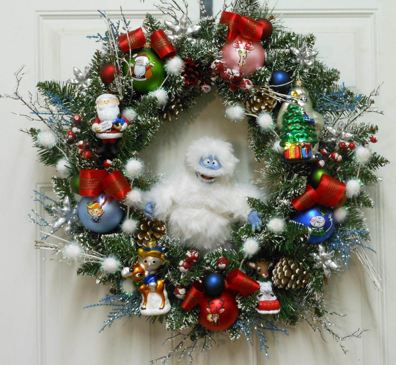 sale christmas wreath rudolph reindeer abominable. Black Bedroom Furniture Sets. Home Design Ideas