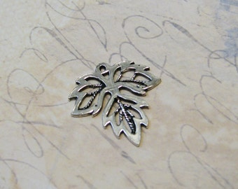 Sterling Silver Leaf Drop - 20 x 19mm