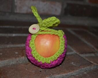 Apple Cozy - Crochet Cozie - Cosy - Gift Idea