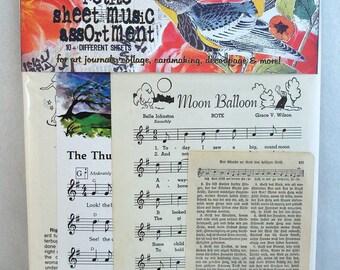 petite sheet music vintage collage assortment