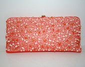 Reserved Listing for Pia-Coral Beaded Clutch