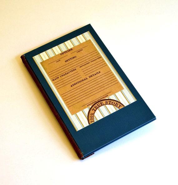 Handmade Journal for Writer- book lover, writing, author, book reading, read books, writing journals, writers gifts, teachers gift, story