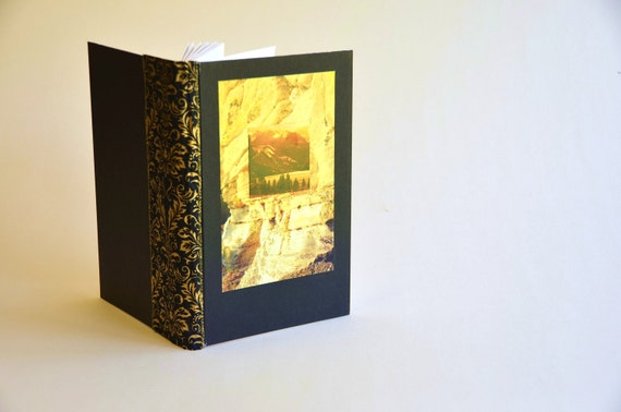 Sketch book for rock climber- handmade sketchbook, rustic, hiking, camping, outdoor adventure, scouting, mountain sunset, gift under 20
