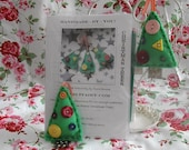 Christmas Tree Felt Kit  - Make Your Own - DIY - Tree Ornament