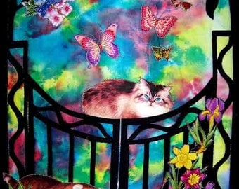 Not for Sale Example Special Order:  large or complex pet portrait on fabric