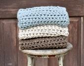 Crochet Baby Blanket  Photography Prop