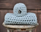 Baby Blanket with Beanie  Crochet  Photography Prop