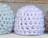 Chunky Newborn Crochet Beanie